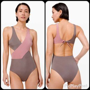 Rare Lululemon All that Glimmers Wrap One-Piece